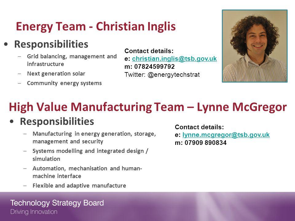 Energy Team - Christian Inglis
