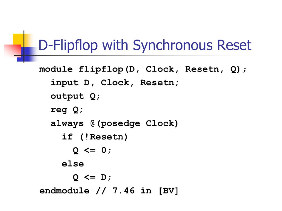 D-Flipflop with Synchronous Reset