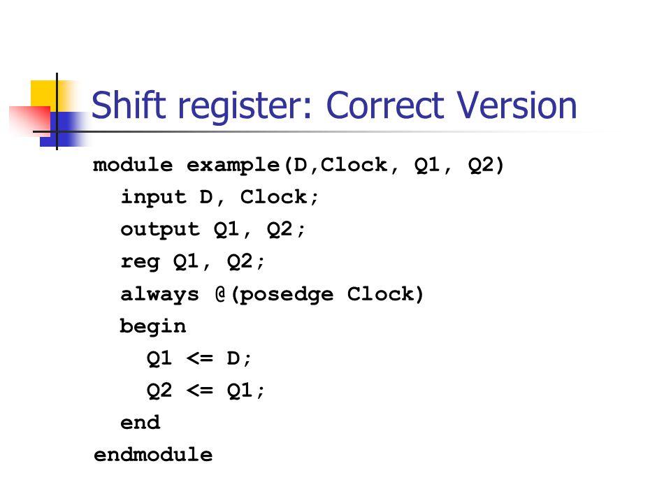 Shift register: Correct Version