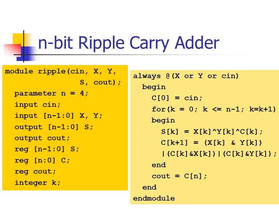 n-bit Ripple Carry Adder