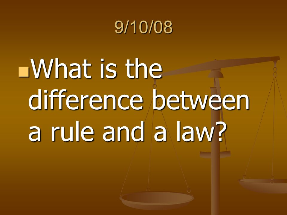 What is the difference between a rule and a law