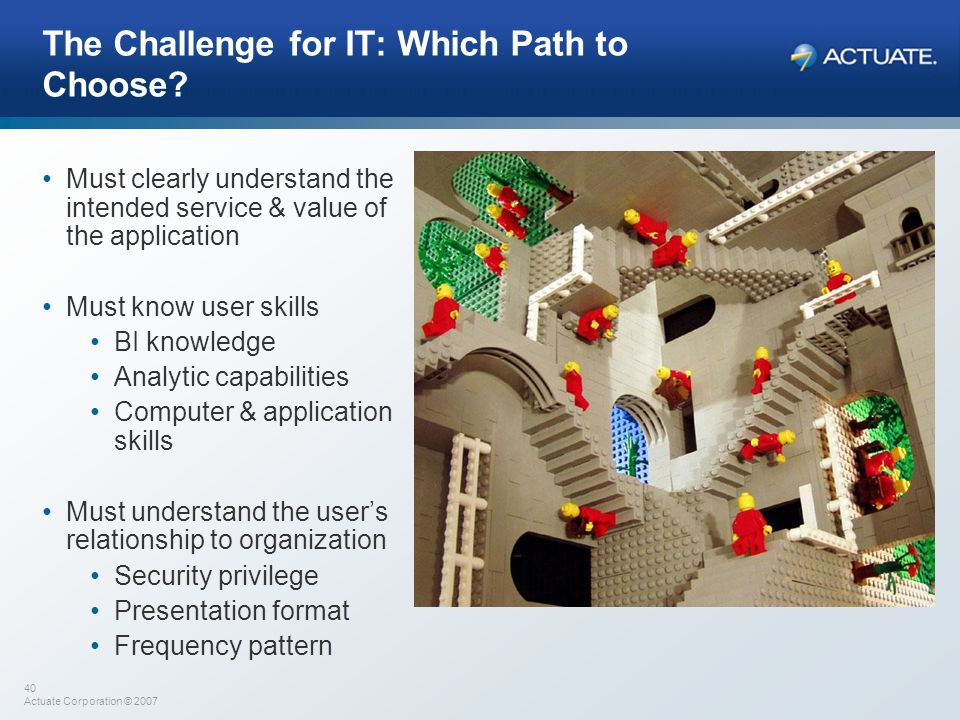 The Challenge for IT: Which Path to Choose