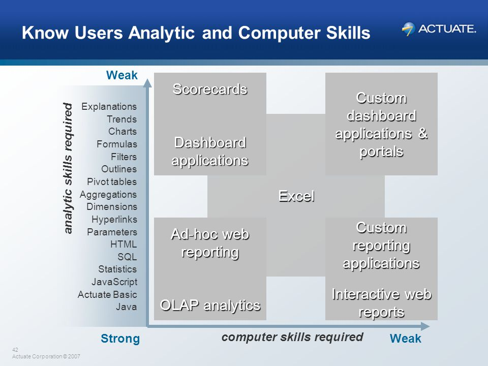 Know Users Analytic and Computer Skills