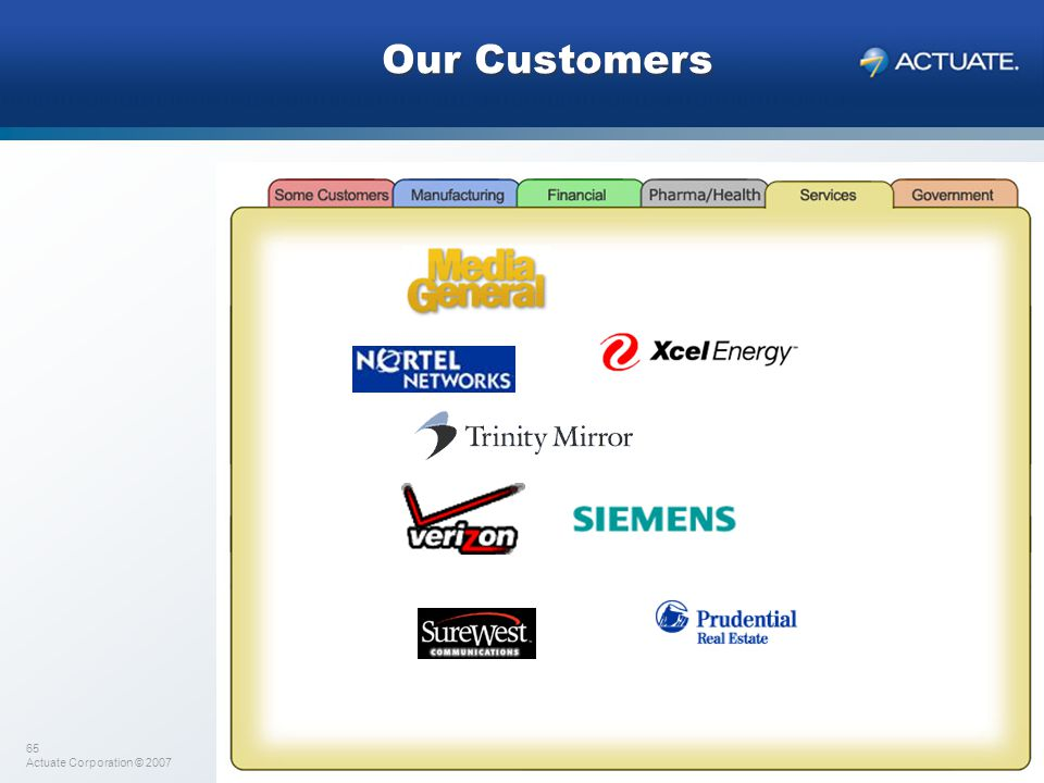 Our Customers We also have several service areas such as communications, utilities, real estate…