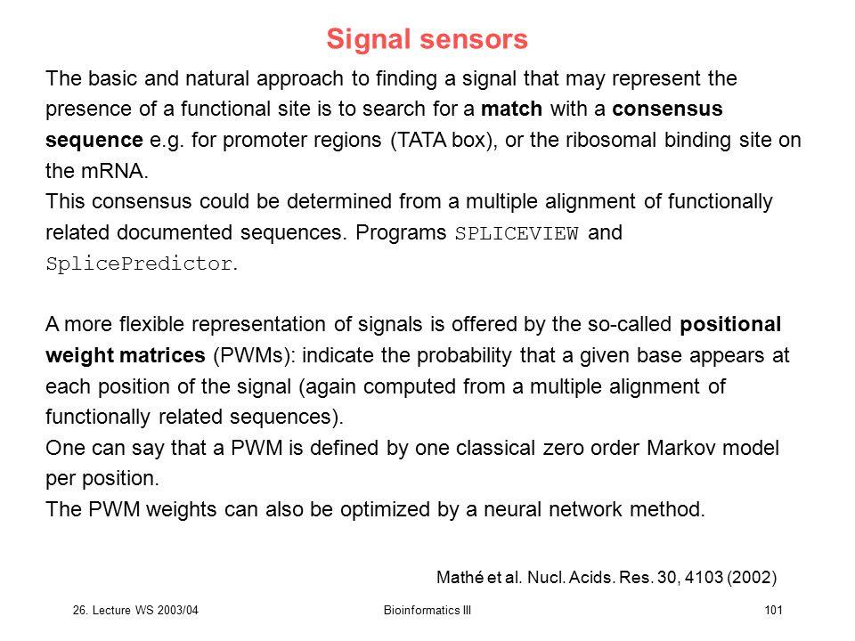 Signal sensors