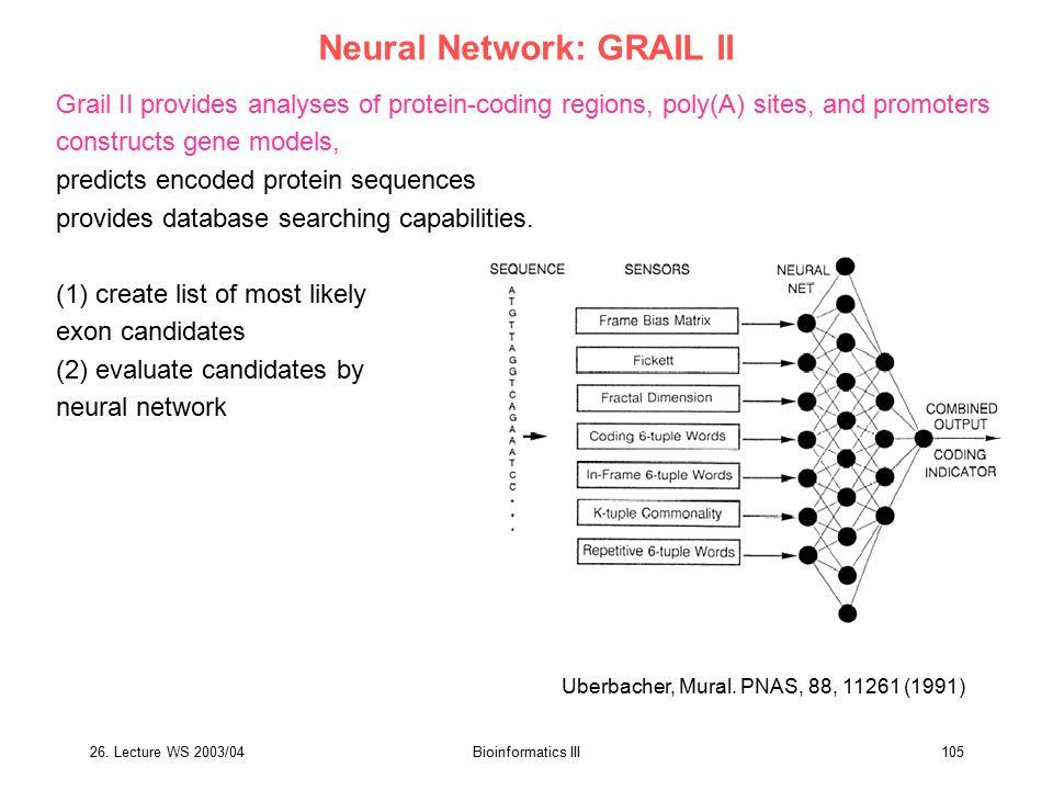 Neural Network: GRAIL II