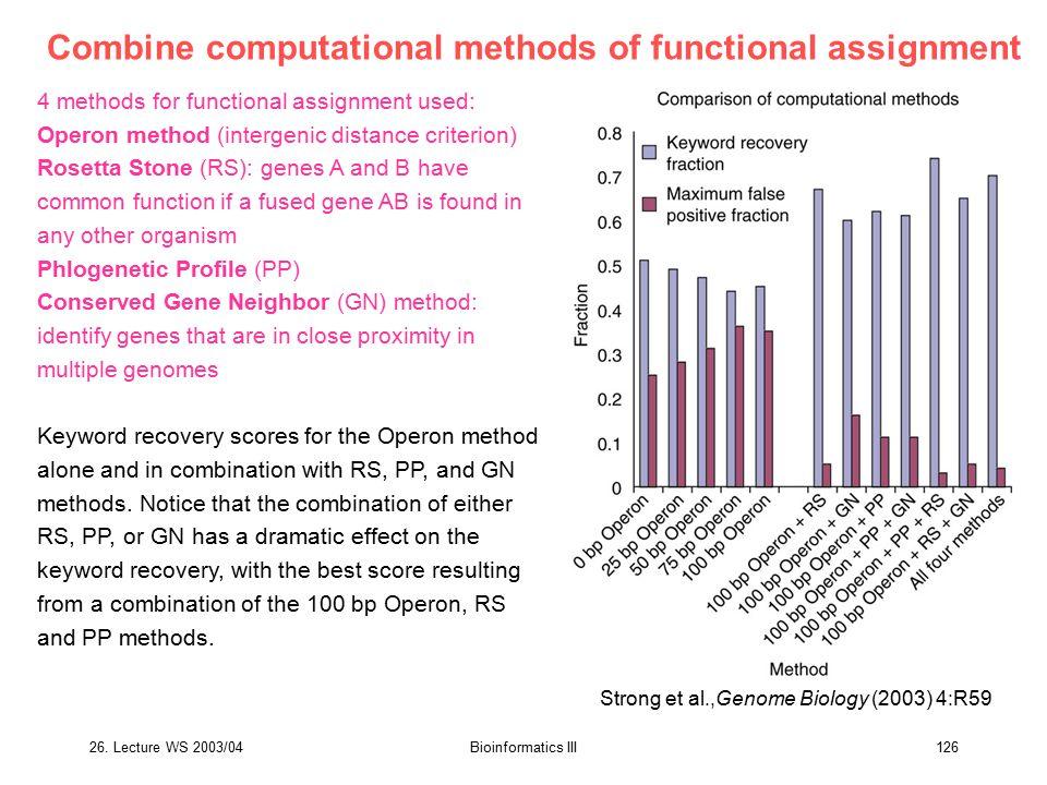 Combine computational methods of functional assignment