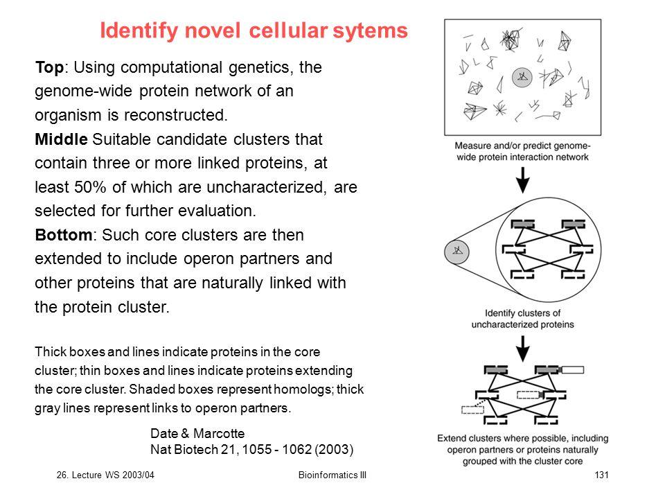 Identify novel cellular sytems