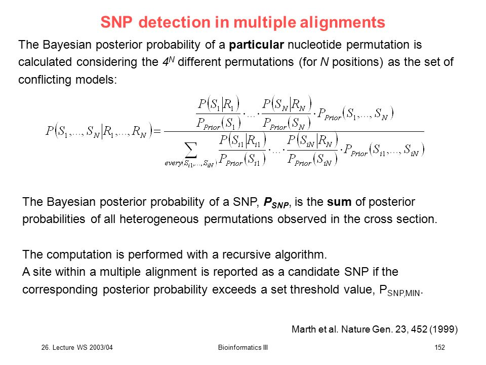 SNP detection in multiple alignments