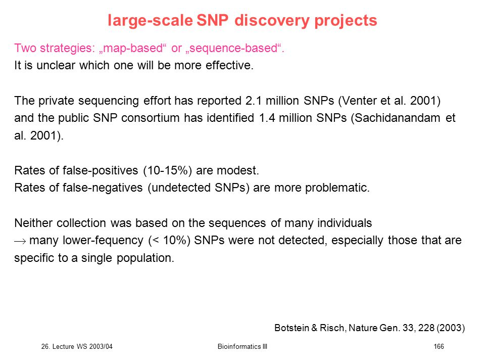 large-scale SNP discovery projects
