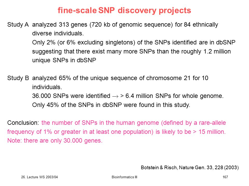 fine-scale SNP discovery projects