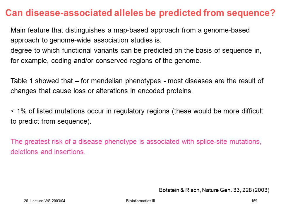 Can disease-associated alleles be predicted from sequence