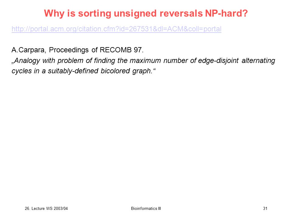 Why is sorting unsigned reversals NP-hard