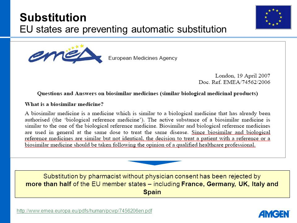 Substitution EU states are preventing automatic substitution