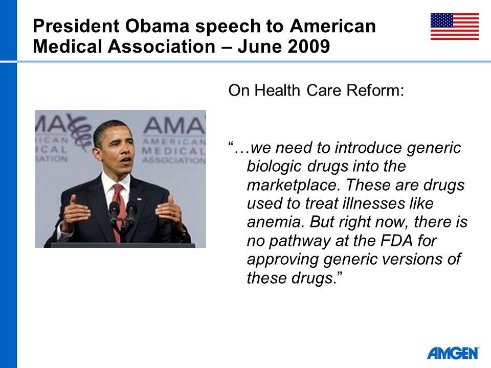 President Obama speech to American Medical Association – June 2009