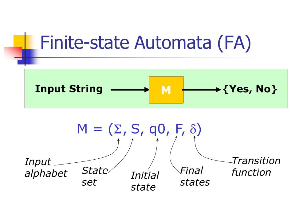 Finite-state Automata (FA)