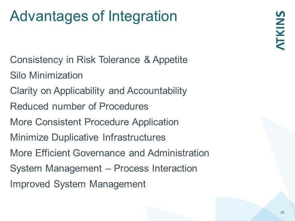 Advantages of Integration