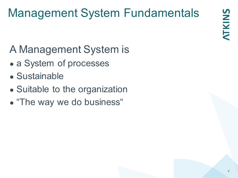 Management System Fundamentals