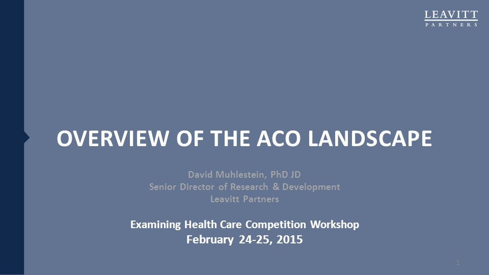 Overview of the ACO Landscape
