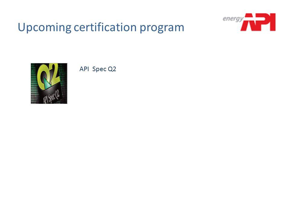 Upcoming certification program