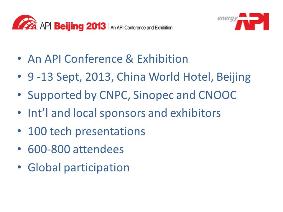 An API Conference & Exhibition