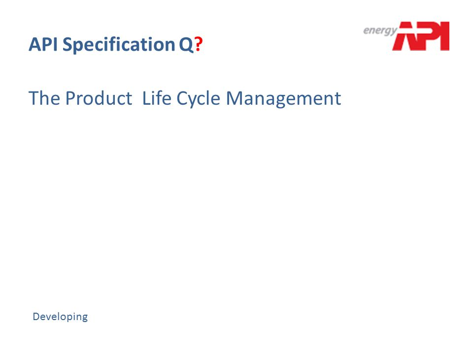 The Product Life Cycle Management