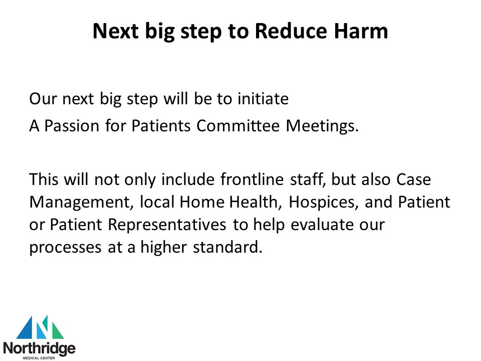 Next big step to Reduce Harm