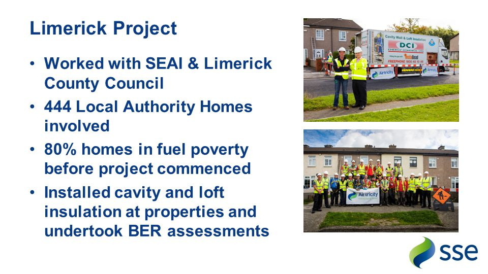 Limerick Project Worked with SEAI & Limerick County Council