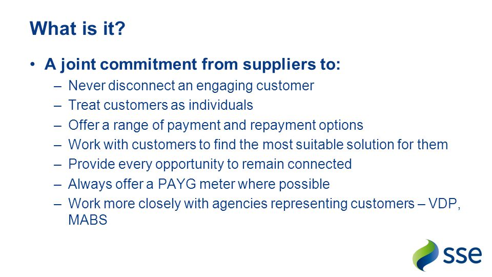 What is it A joint commitment from suppliers to: