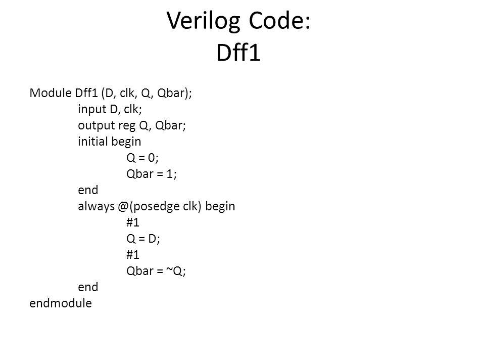 Verilog Code: Dff1