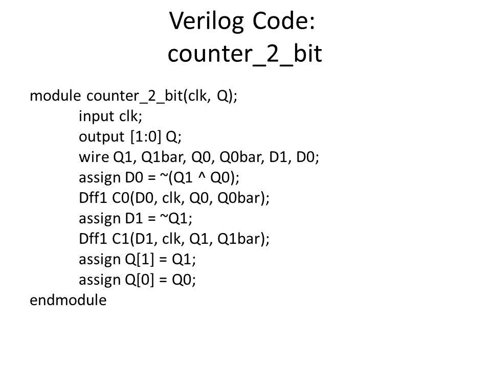 Verilog Code: counter_2_bit