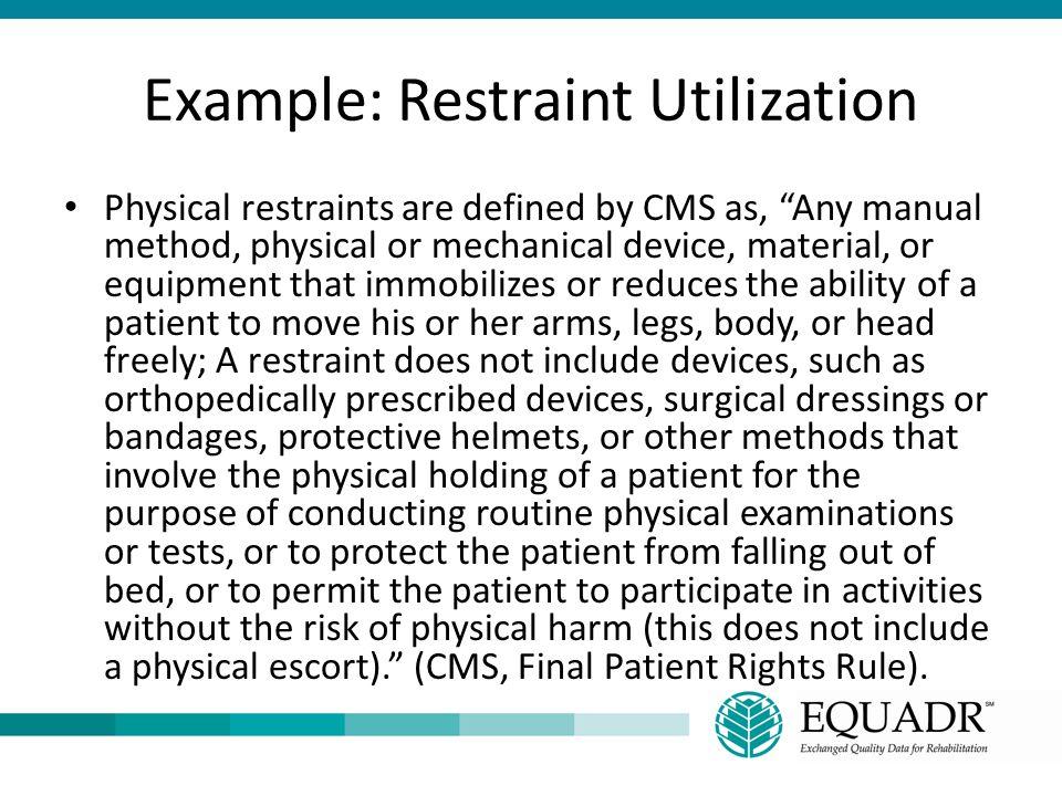 Example: Restraint Utilization