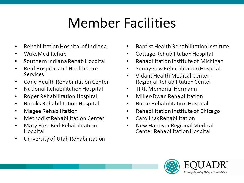 Member Facilities Rehabilitation Hospital of Indiana WakeMed Rehab