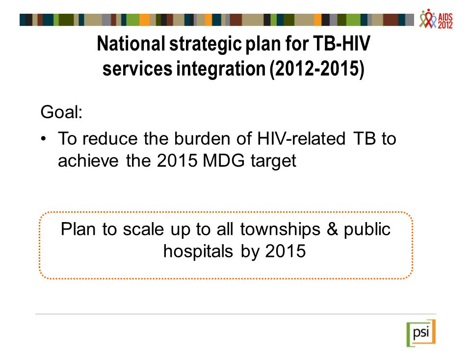 National strategic plan for TB-HIV services integration (2012-2015)