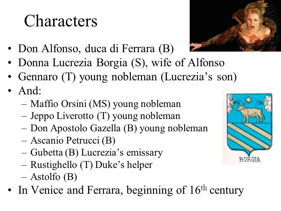 Characters Don Alfonso, duca di Ferrara (B)