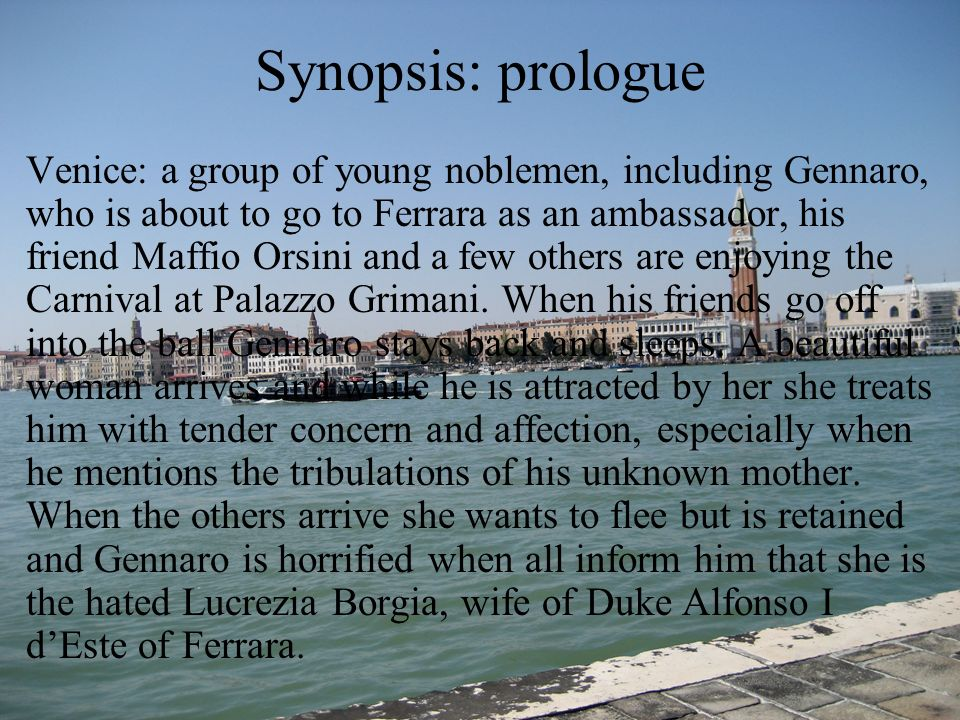 Synopsis: prologue