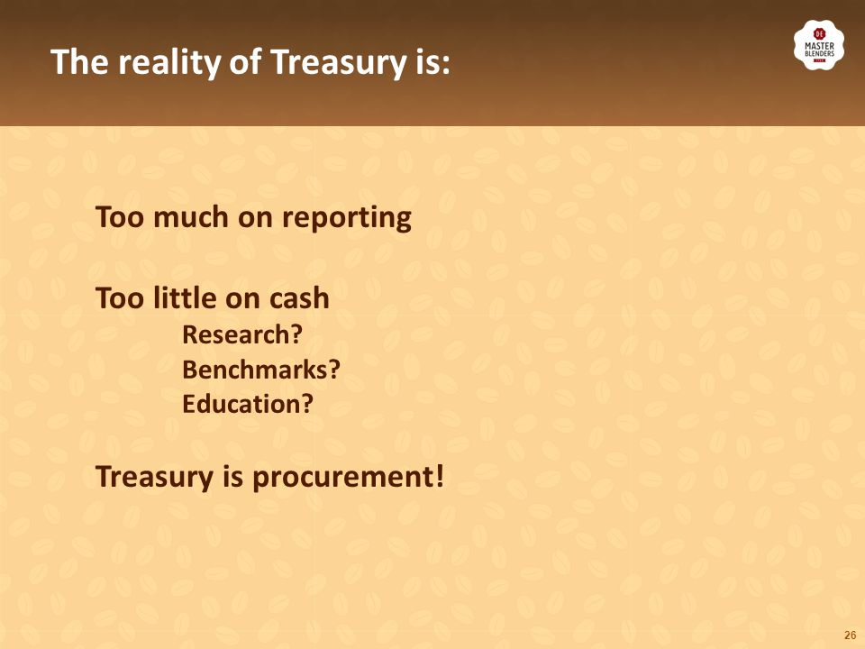 What do we do: Financing Fees, interest margins Cash management FX