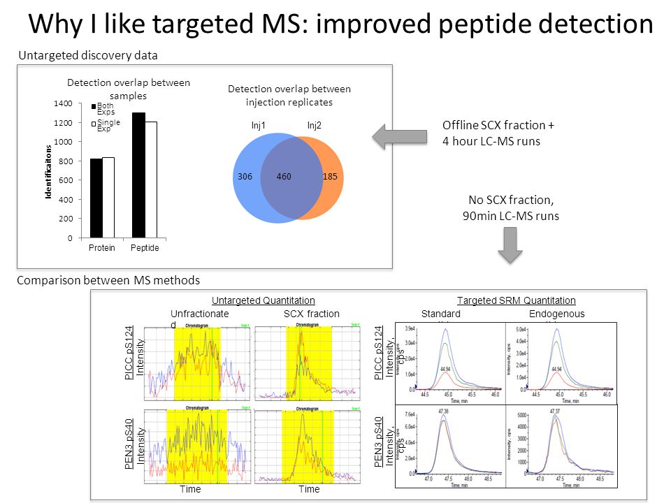 Why I like targeted MS: improved peptide detection