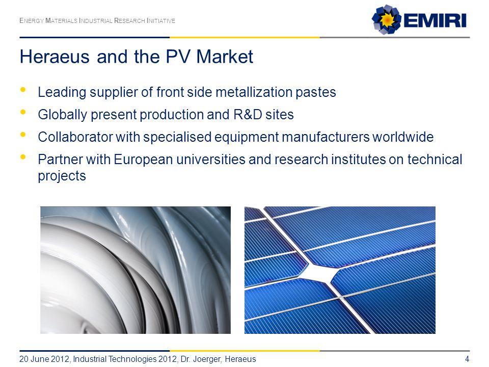 Heraeus and the PV Market