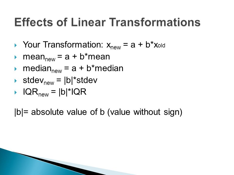 Effects of Linear Transformations