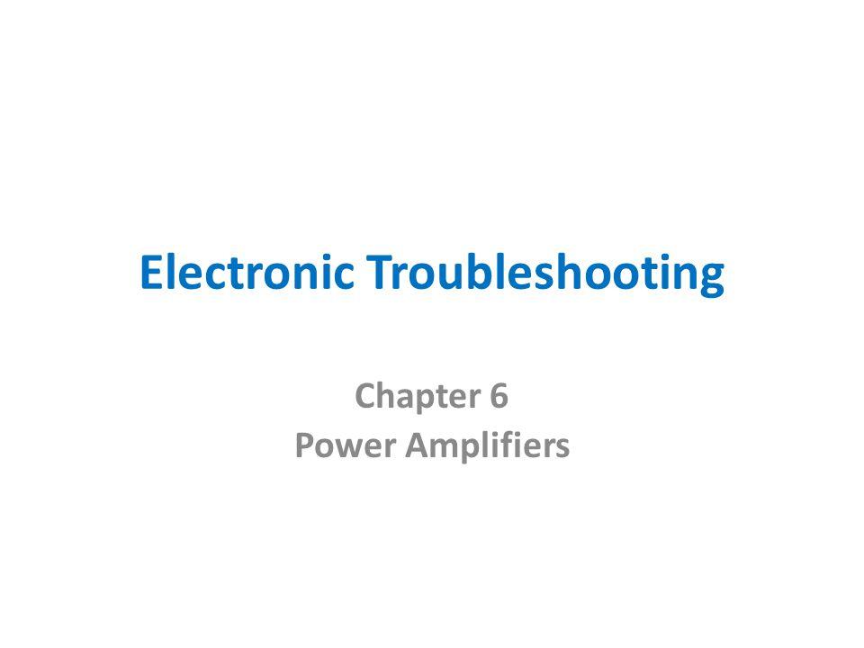 Electronic Troubleshooting