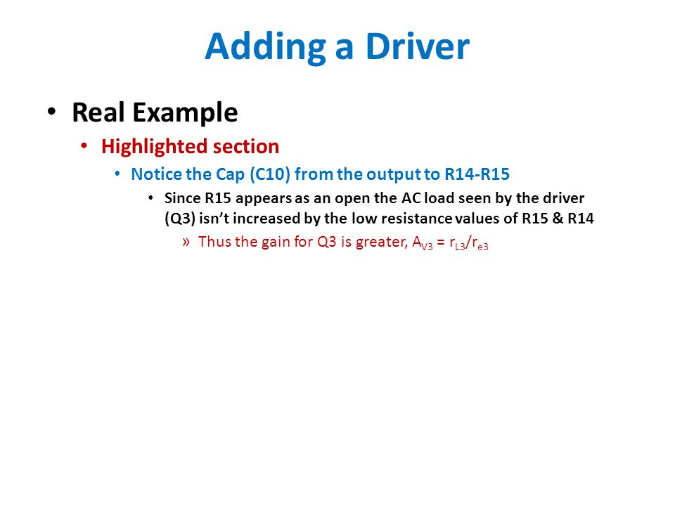 Adding a Driver Real Example Highlighted section