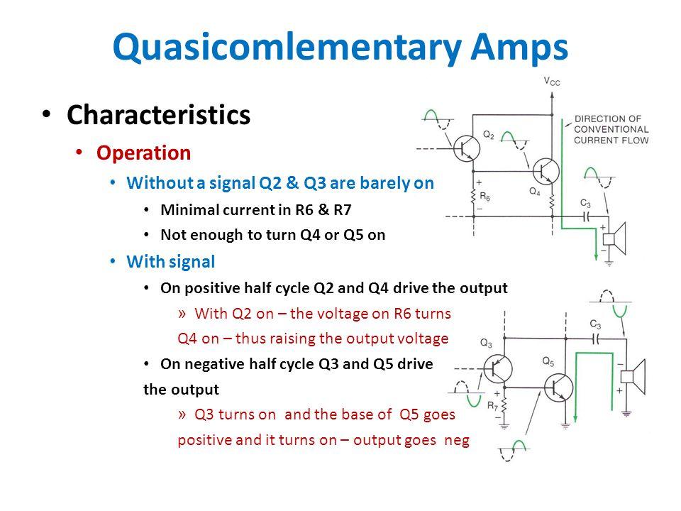 Quasicomlementary Amps