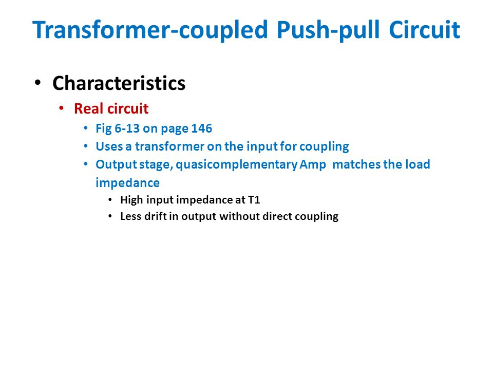 Transformer-coupled Push-pull Circuit