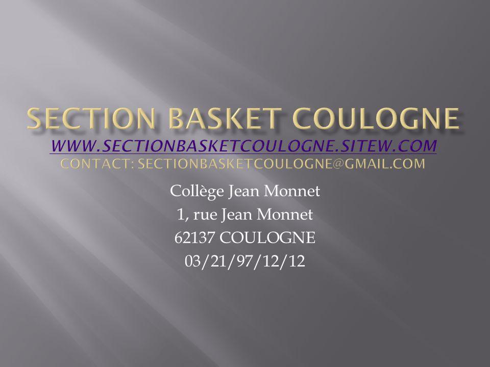 Collège Jean Monnet 1, rue Jean Monnet 62137 COULOGNE 03/21/97/12/12