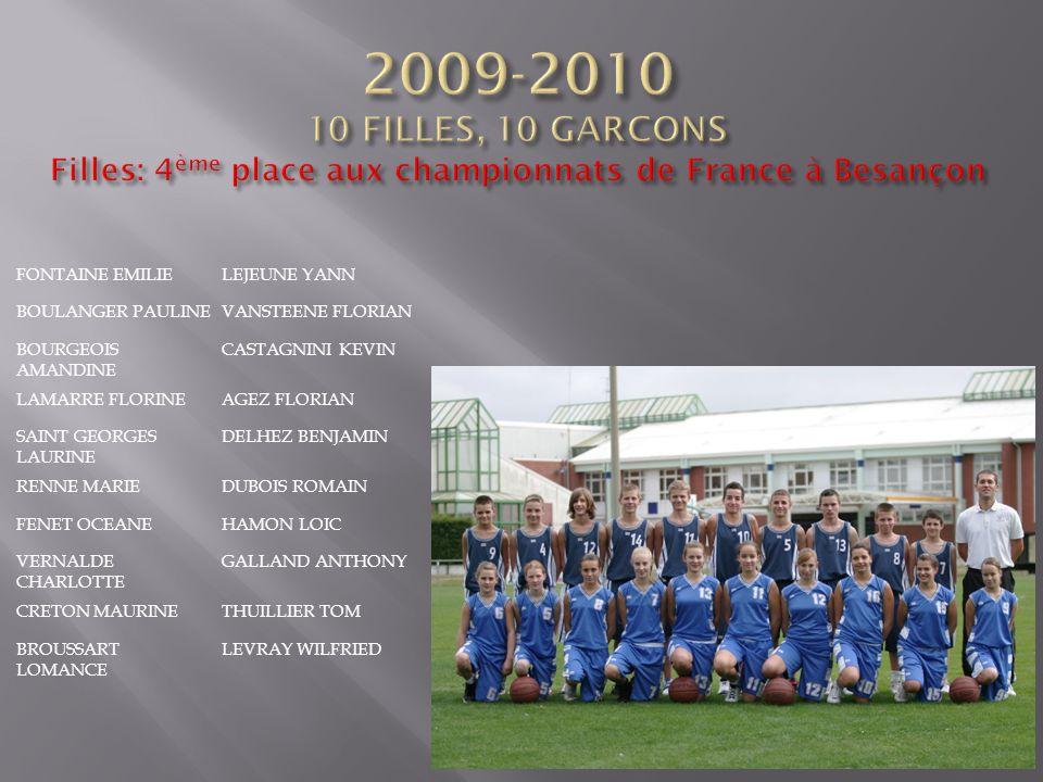2009-2010 10 FILLES, 10 GARCONS Filles: 4ème place aux championnats de France à Besançon