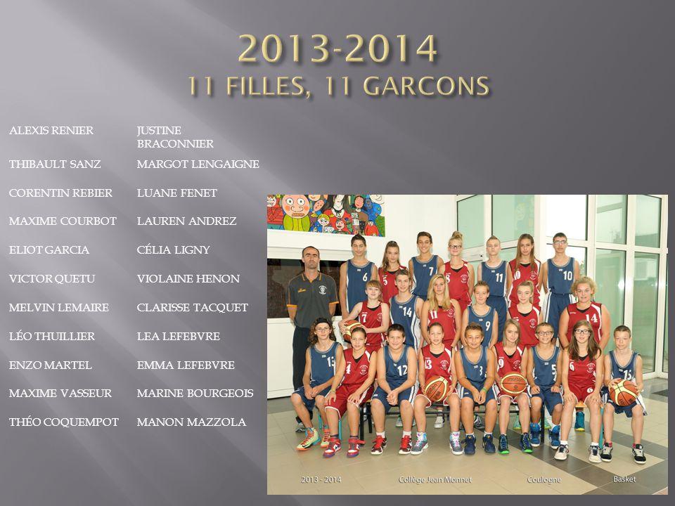 2013-2014 11 FILLES, 11 GARCONS Alexis Renier Justine Braconnier