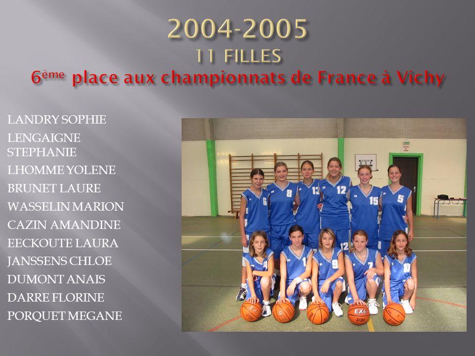 2004-2005 11 FILLES 6ème place aux championnats de France à Vichy