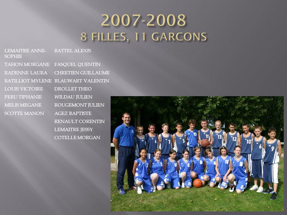 2007-2008 8 FILLES, 11 GARCONS LEMAITRE ANNE-SOPHIE BATTEL ALEXIS