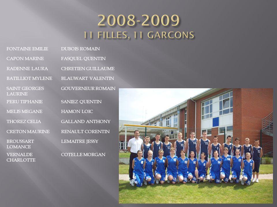 2008-2009 11 FILLES, 11 GARCONS FONTAINE EMILIE DUBOIS ROMAIN